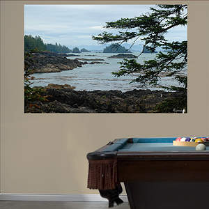 British Columbia Pacific Coastline Mural Fathead Wall Decal